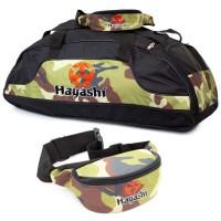 """HAYASHI Sporttasche """"Camouflage"""" im Set mit Bauchtasche"""