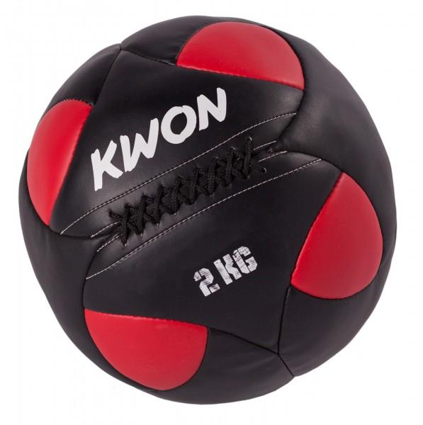 Schwarz-roter Trainingsball von KWON Gewicht 2 kg