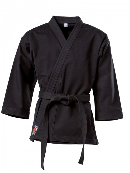 Schwarze KWON Karatejacke Traditional 8 oz Kids