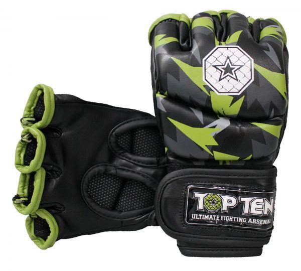 MMA Fight Gloves Jungle von Top Ten in Schwarz-Grün