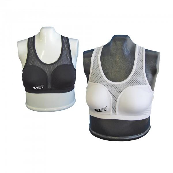 Weißes und schwarzes DANRHO Top für Damen Brustschutz Super Protect & Cool Guard