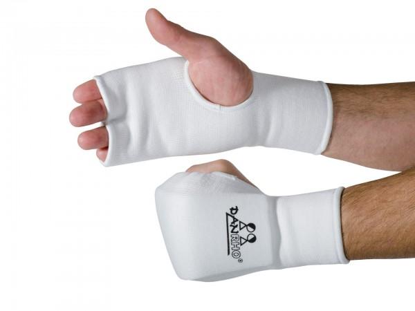 Weiße DANRHO Handschützer aus Stoff