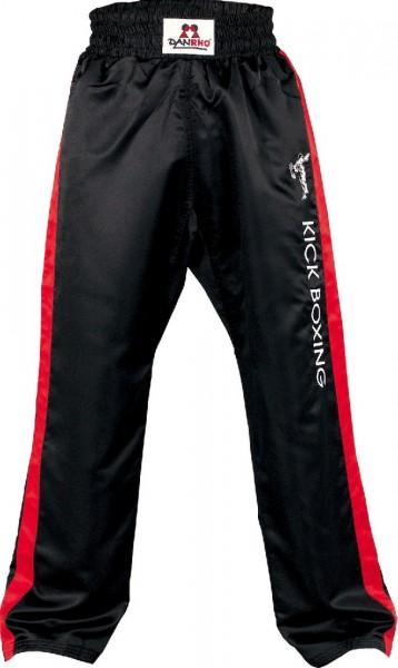 Satinhose Kickboxing in Schwarz-Rot von Danrho