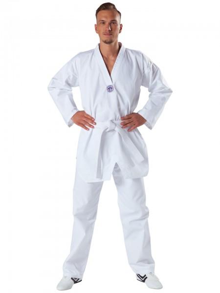 KWON CLUBLINE Taekwondoanzug Song - weißem Revers