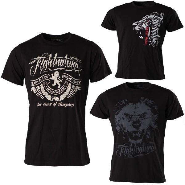 Fightnature ® T-Shirt Lion, Train Hard oder Beast Hard