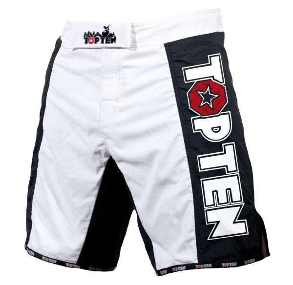 MMA Shorts Competition Top Ten Schwarz Dryfit Elasthan Klettverschluss