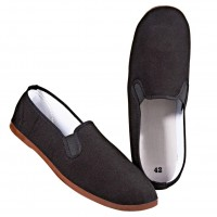 Schwarze Kung Fu Schuhe Slipper von KWON 1
