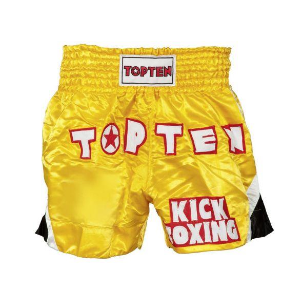 Thaishorts Kickboxing von Top Ten in Gelb