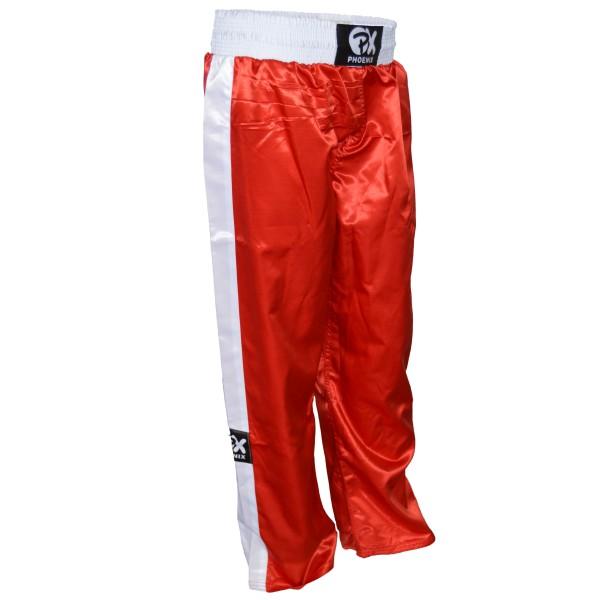 PHOENIX Kickboxhose TOPFIGHT, rot-weiß Gr. 120-200cm