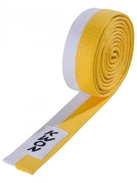 Weiß-gelber KWON Budo-Gürtel