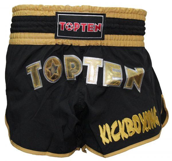 TOPTEN Thaiboxing Shorts Flexz Pro schwarz