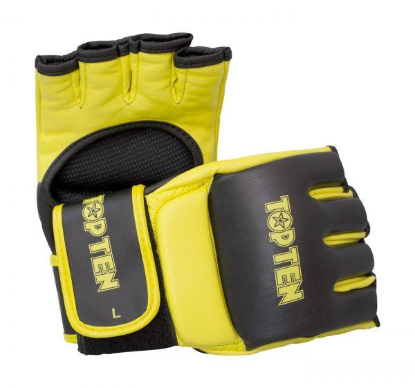 MMA Gloves Competition Top Ten in gelb-schwarz
