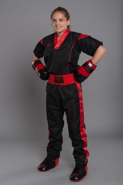 PHOENIX Pointfighting Anzug, schwarz-rot Gr. 140-200cm