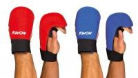 Rote und Blaue KWON Karate Handschützer ohne Daumenschlaufe