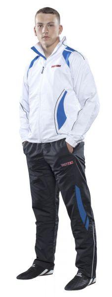 Sport- und Freizeitanzug Premium von Top Ten in Weiß-Blau Frontansicht