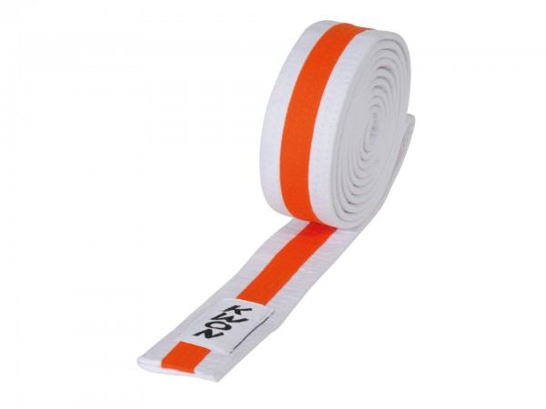 Weiß-orange-weißer KWON Kindergürtel