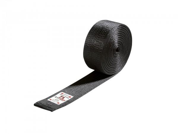 DANRHO Gürtel - schwarzer Kunstseide - 5 cm br.