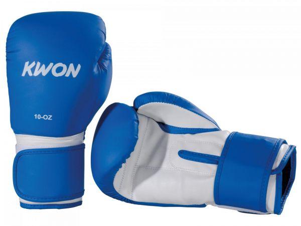 Fitness Boxhandschuhe blau liegend