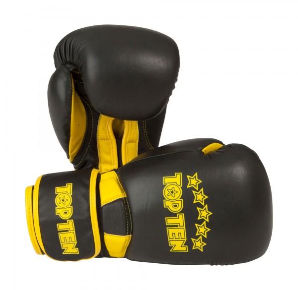 Boxhandschuhe Elite Dual von Top Ten in gelb