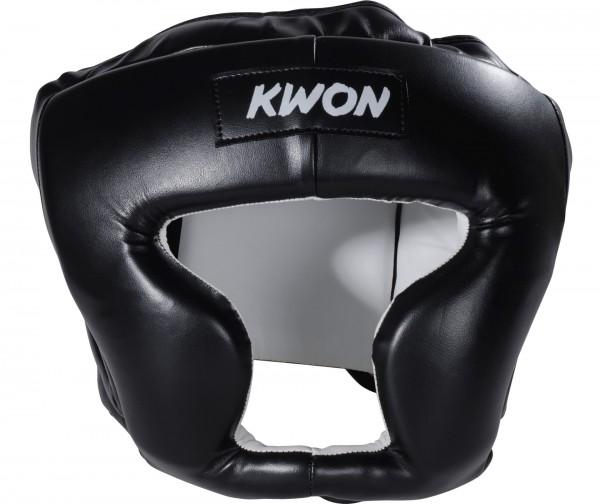 Schwarzer KWON Kopfschutz Kick Thai CE 1