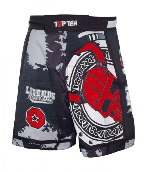 top ten mma shorts klettverschluss elasthan dryfit rot blau grün vikings samurai