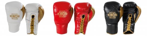 KWON Profi Boxhandschuhe mit Schnürung Petko