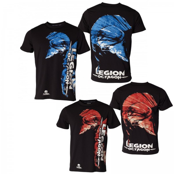 LEGION OCTAGON Head MMA T-Shirt blau rot