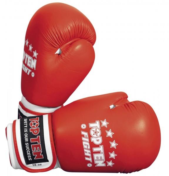 TOP TEN Boxhandschuhe Fight (10 oz) Rot