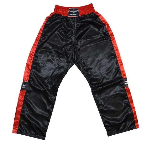 PHOENIX Kickboxhose TOPFIGHT, schwarz-rot, Gr.120-200cm