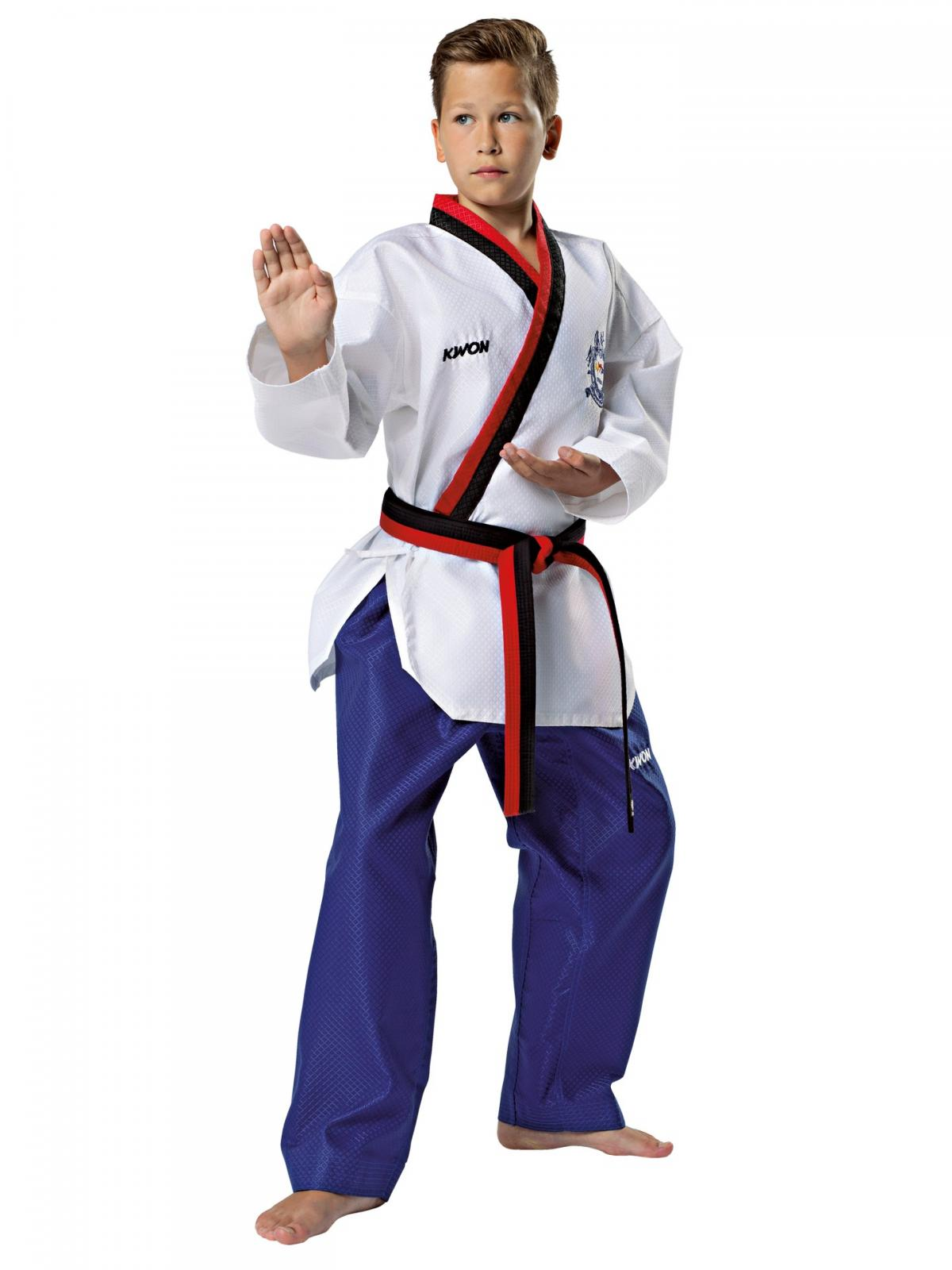 Kwon ® Starfighter Taekwondoanzug kleinem Schriftzug Dobok Taekwondo Anzug weiss