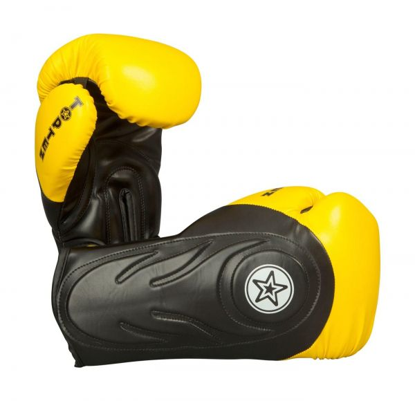 Sparring Boxhandschuhe Hero von Top Ten in Schwarz-Gelb