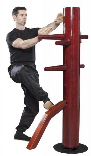 Freistehende Wing Chun Holzpuppe drehbar von Hayashi