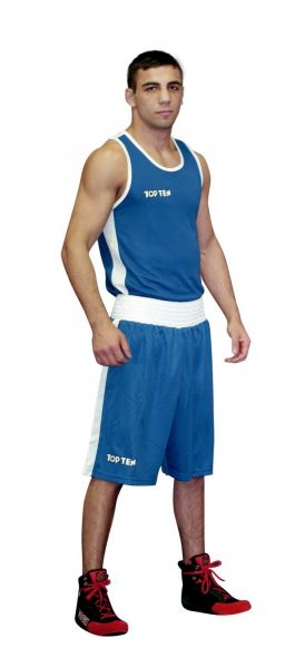 Boxing Shorts AIBA von Top Ten in Blau Frontansicht