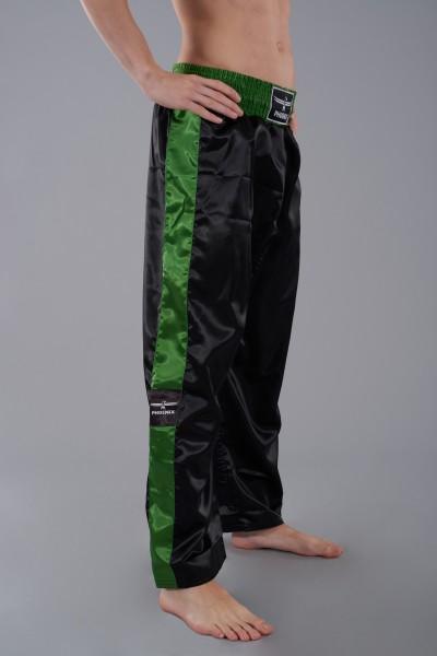 PHOENIX Kickboxhose TOPFIGHT, schwarz-grün Gr.120-200cm