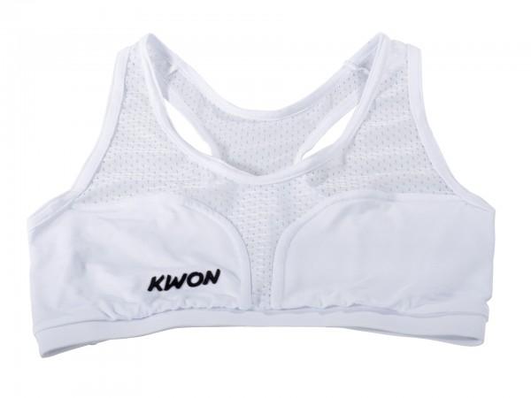 Weißes KWON Top für Damen Brustschutz Cool Guard und Super Protect