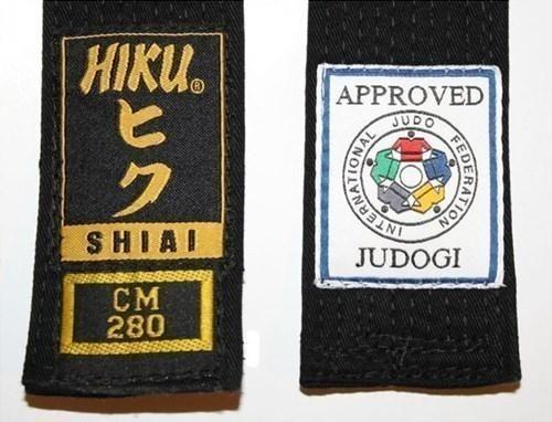 HIKU Judo Gürtel Shiai IJf approved