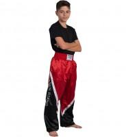 BUDO's FINEST Kickboxhose schwarz-rot-weiss Gr.140-200cm