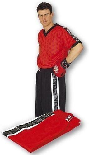 kickboxhose kickboxing pants wako kinder erwachsene rot schwarz
