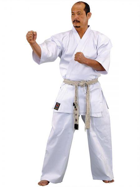 Weißer Karateanzug Full Contact 8 oz. von KWON Frontansicht