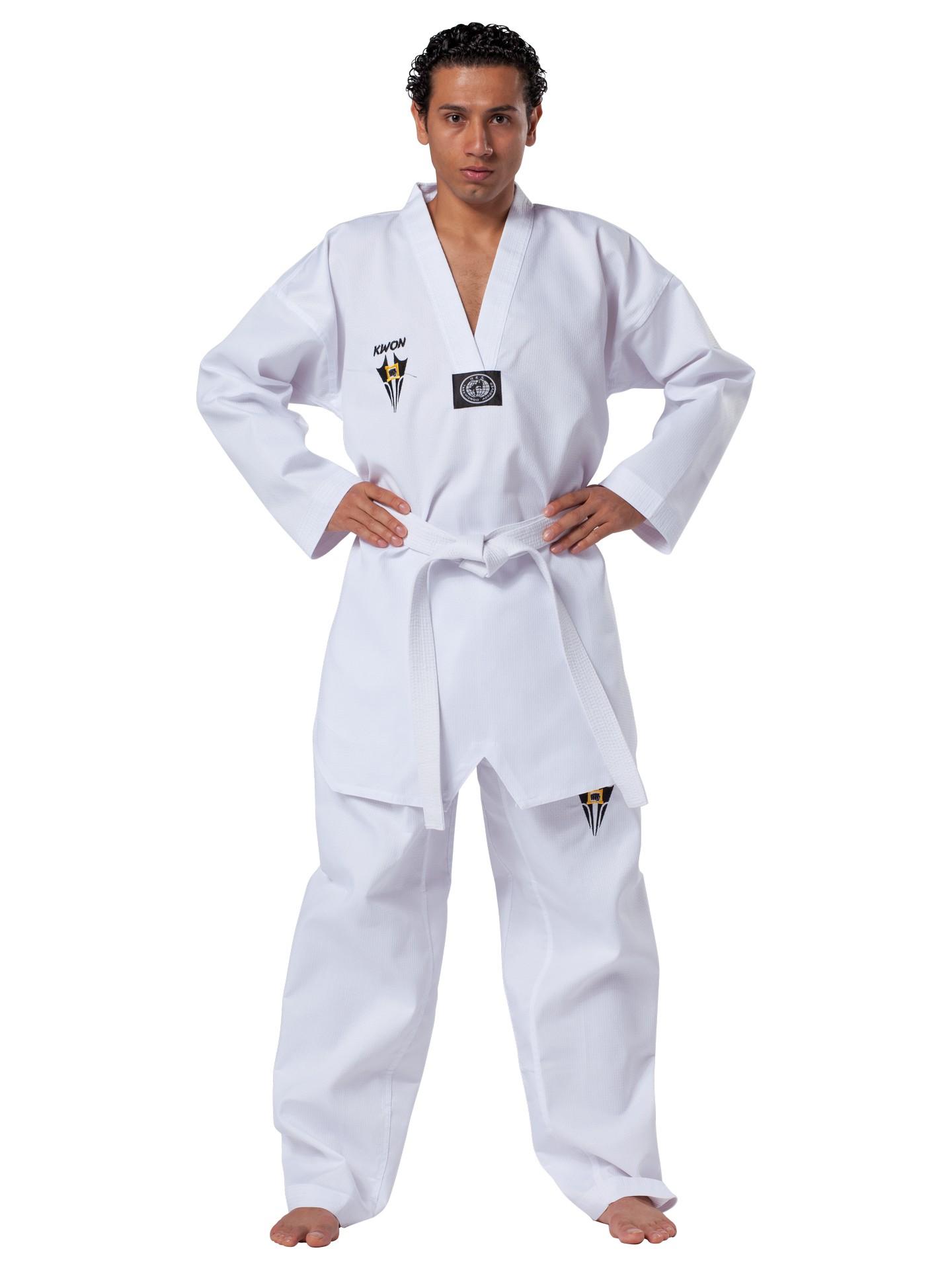KWON Starfighter Taekwondoanzug weißes Revers