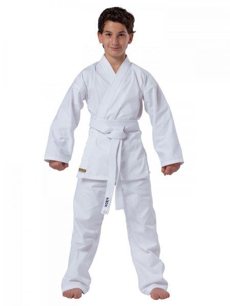 Weißer KWON CLUBLINE  Karateanzug Seito Plus Frontansicht
