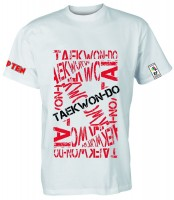 T-Shirt ITF Taekwon-Do von Top Ten in weiß