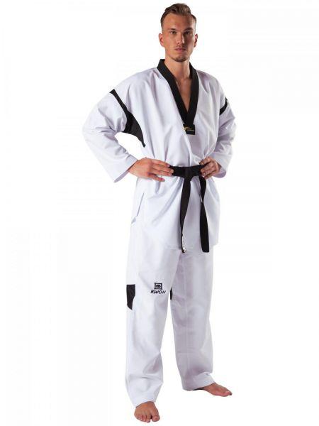 Taekwondo Anzug Revolution Black Mesh Frontansicht