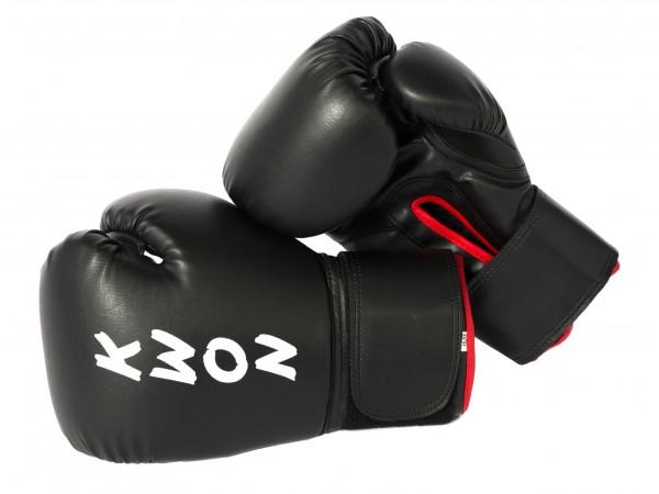 Schwarze Boxhandschuhe Training KWON