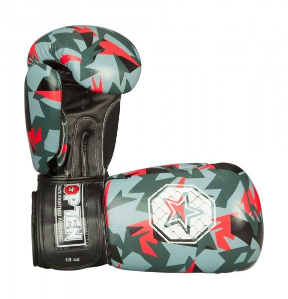 Boxhandschuhe Jungle von Top Ten in Schwarz-Rot