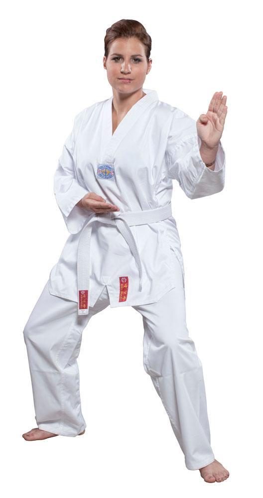 HAYASHI Taekwondo Anzug Taeguk Anzug weißes Revers