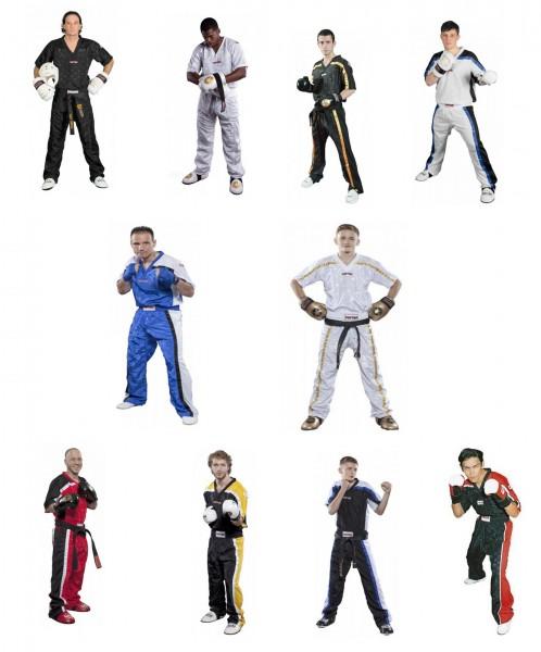 TOP TEN T-Shirt mit V-Ausschnitt zum Kickboxen Kickboxjacke Mesh