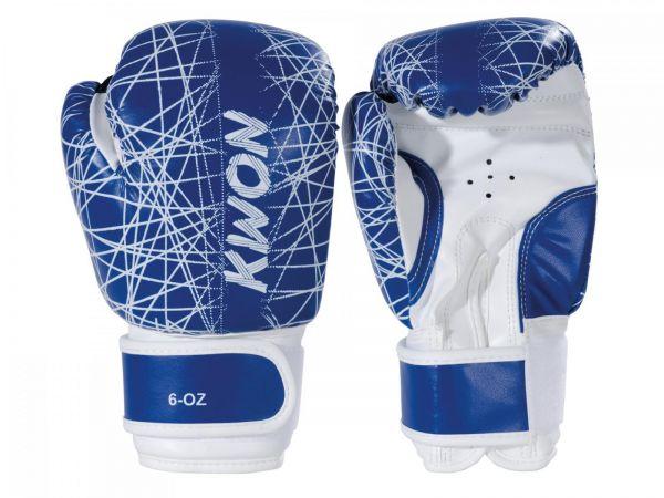 Kinderboxhandschuh Neon KWON blau