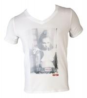 TOP TEN T-Shirt mit V-Ausschnitt Ringgirl sitzend - Frauen