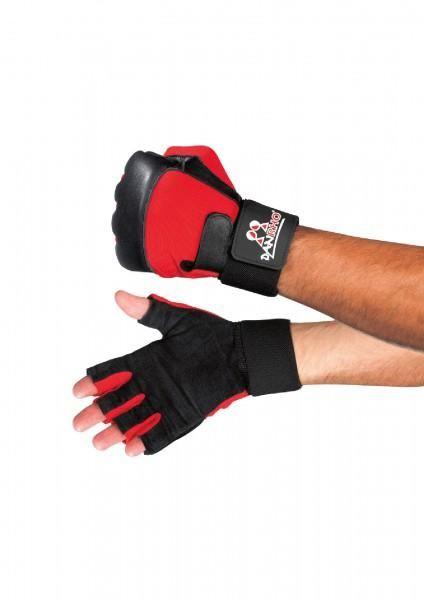 Lift & Punch Handschutz schwarz - Rot